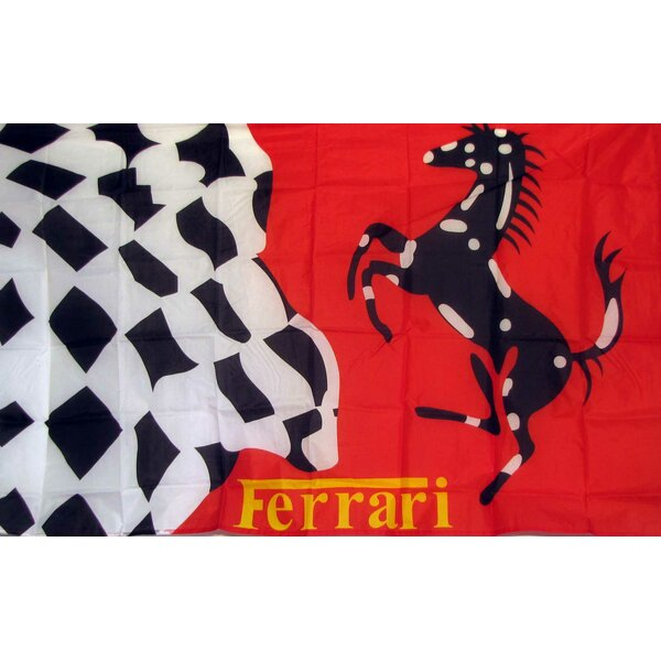 Ferrari Stallion Checkered Polyester 3 x 5 ft. Flag by NeoPlex