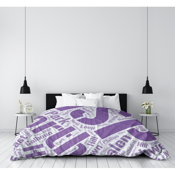 Minneapolis–Saint Paul, Minnesota Districts Word Art - Purple Duvet Cover - Microfiber