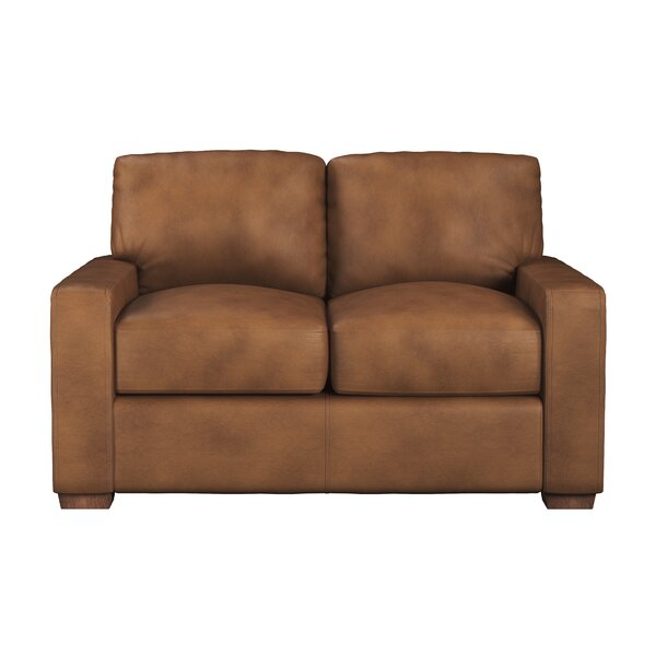 Blanca Leather Loveseat by Westland and Birch