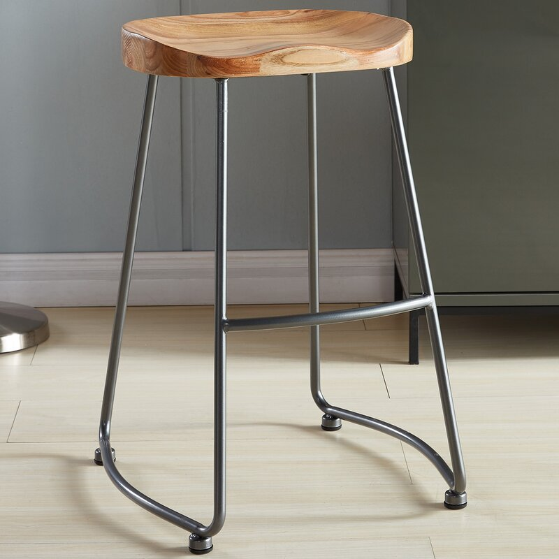 bamboo stool seat replica silver by metal clean bar shop with tolix stools