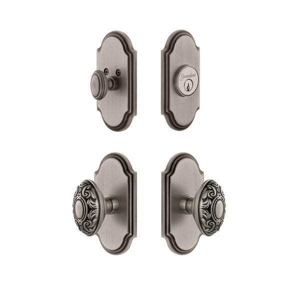 Arc Single Cylinder Knob Combo Pack with Grande Victorian Knob by Grandeur