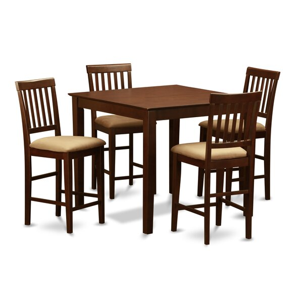 Quinlan 5 Piece Counter Height Dining Set by Andover Mills Andover Mills