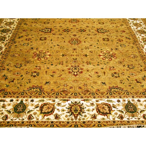 Agra Hand-Knotted Camel/Ivory Area Rug by Pasargad