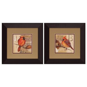 Bird I/II 2 Piece Framed Graphic Art Set by Propac Images
