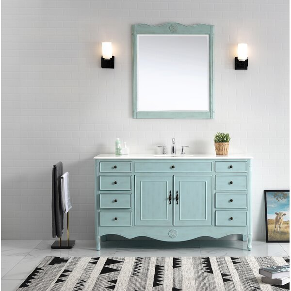 Genevieve 60 Single Bathroom Vanity Set by One Allium Way