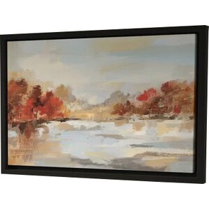 'Late Fall Reminiscence' Framed Painting Print by Three Posts