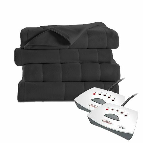 Heated Electric Royal Dreams Quilted Fleece Blanket by Bell + Howell