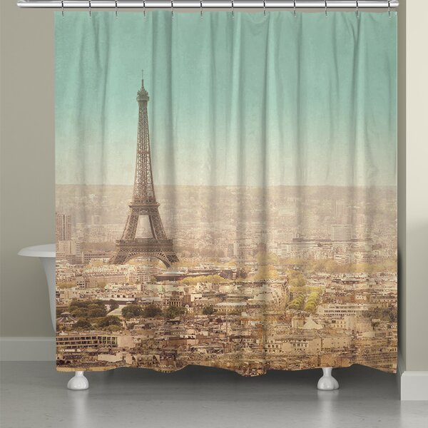 Eiffel Tower Landscape Shower Curtain by Laural Home