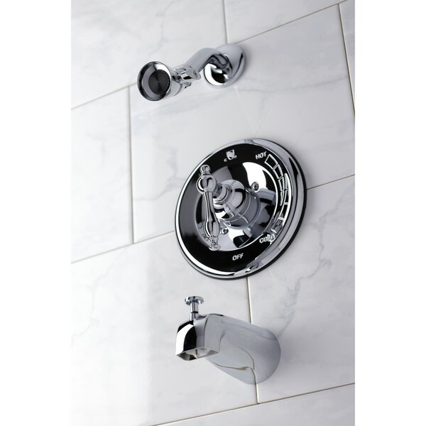 Pressure-Balanced Tub And Shower Faucet With Rough-in Valve By Kingston Brass