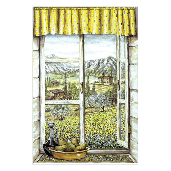 Provence with Pears Faux Window Scene Painting Print Wall Plaque by Stupell Industries