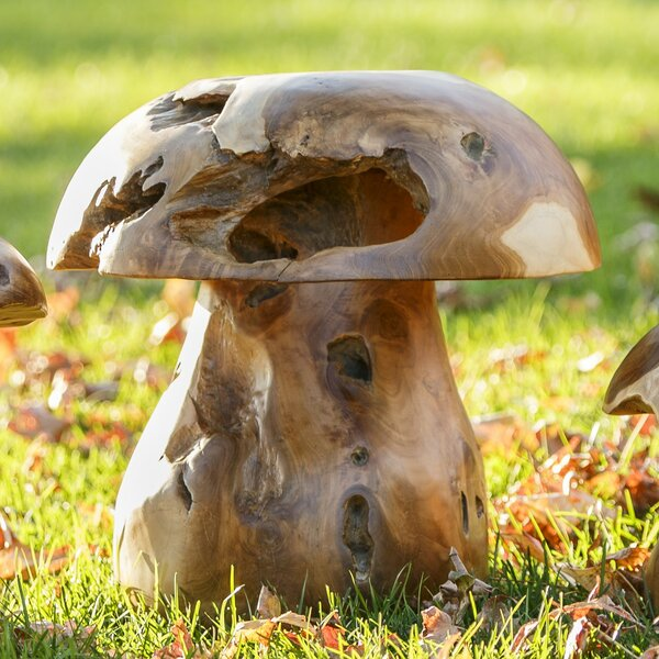 Teak Mushroom Stool by Garden Age