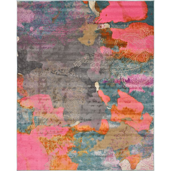 Cherry Street Pink Area Rug by Mercury Row