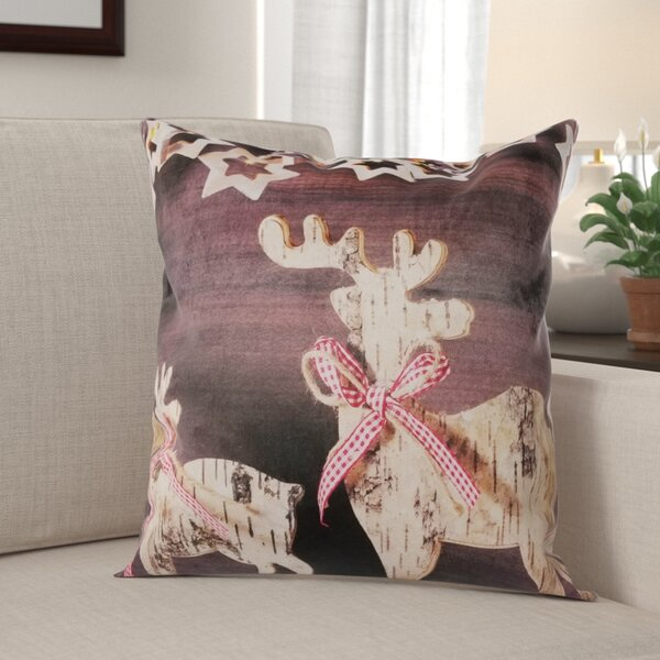 Beck Reindeer Throw Pillow by The Holiday Aisle