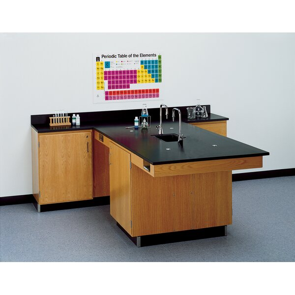 Perimeter Workstation With Door And Sink and Fixtures by Diversified Woodcrafts