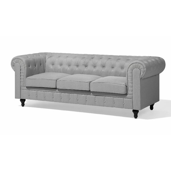Chappell 3 Seater Chesterfield Sofa by Alcott Hill