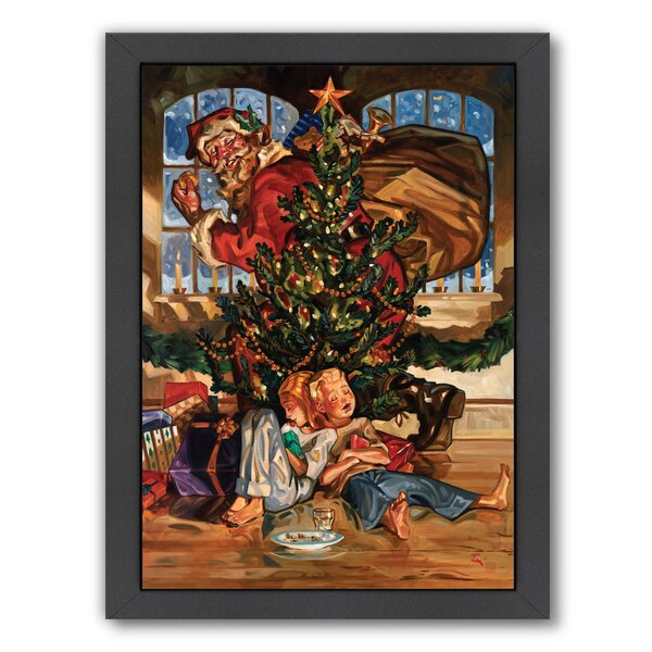 Waiting For Santa Framed Painting Print by East Ur