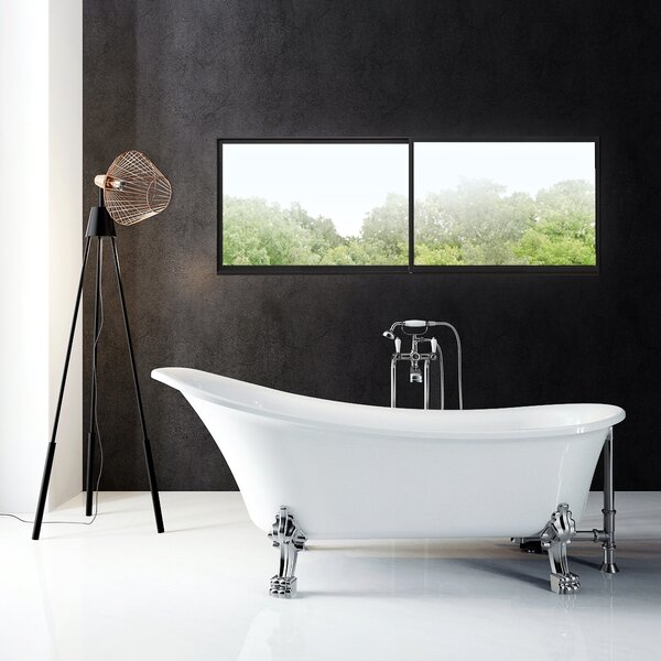 Dorya 59 x 30 Clawfoot Soaking Bathtub by A&E Bath and Shower
