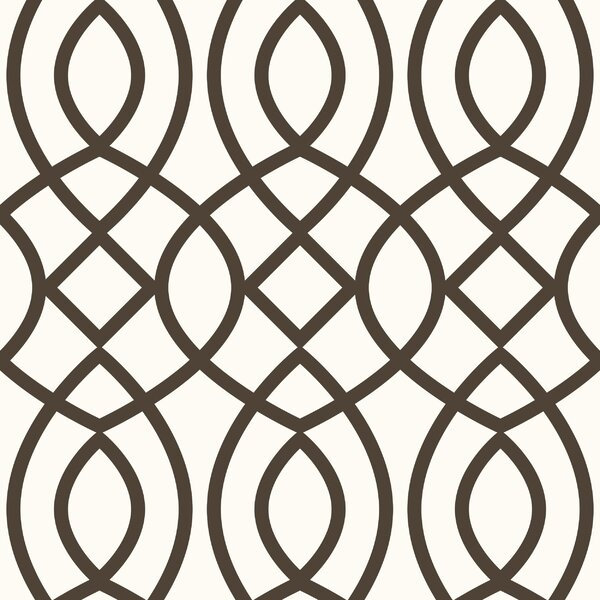 Trellis Woven Geometric Panel 54'' H x 26'' W Wallpaper by Swag Paper