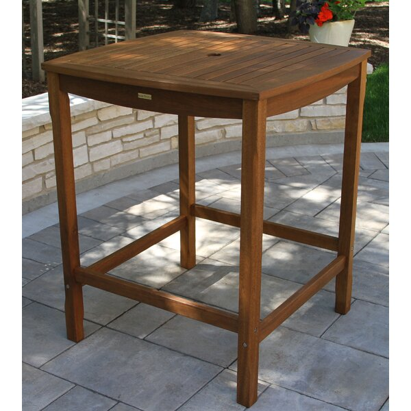Mallie Solid Wood Bar Table by Beachcrest Home