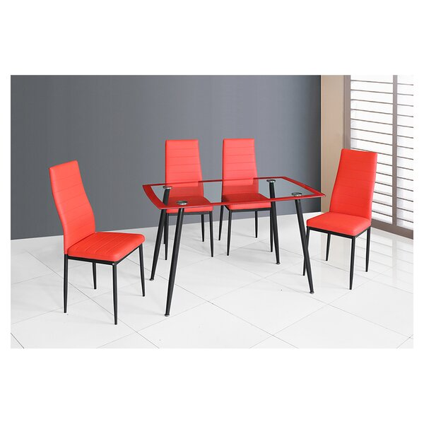 Goldsberry 5 Piece Dining Table Set by Orren Ellis