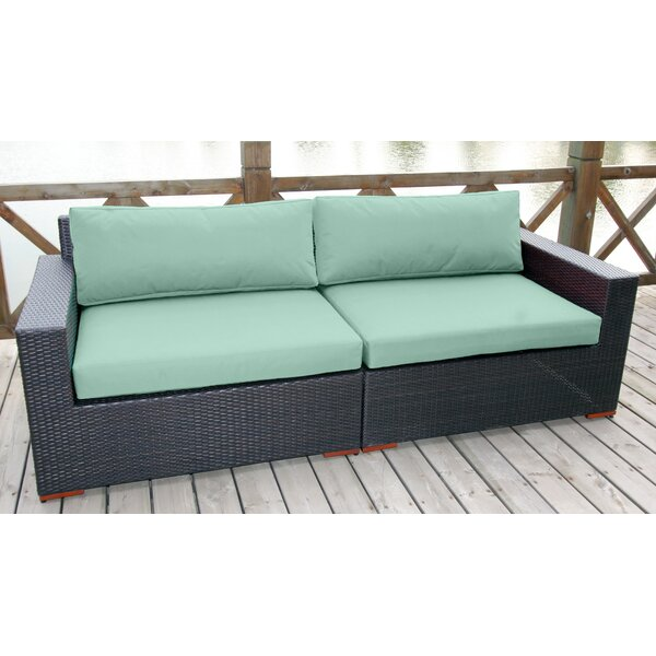 Scholtz Deep Seating Sofa with Cushions (Set of 2) by Bay Isle Home