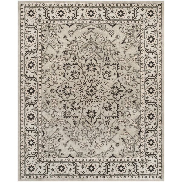 Evans Hand-Tufted Gray/Beige Area Rug by Ophelia & Co.
