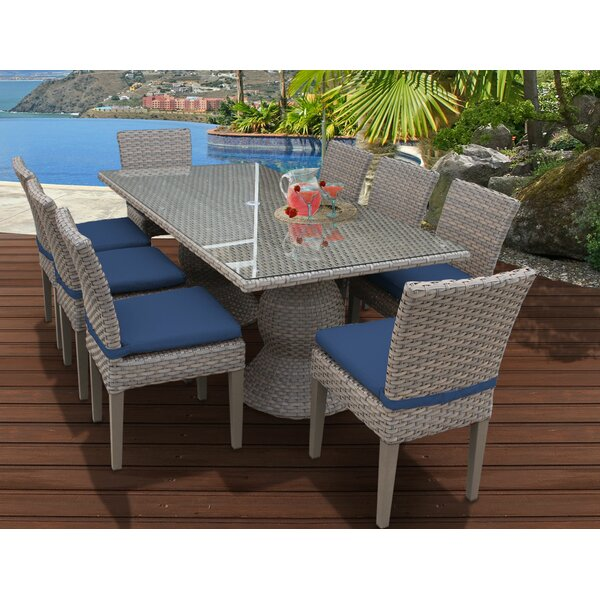 Oasis 9 Piece Dining Set with Cushions by TK Classics