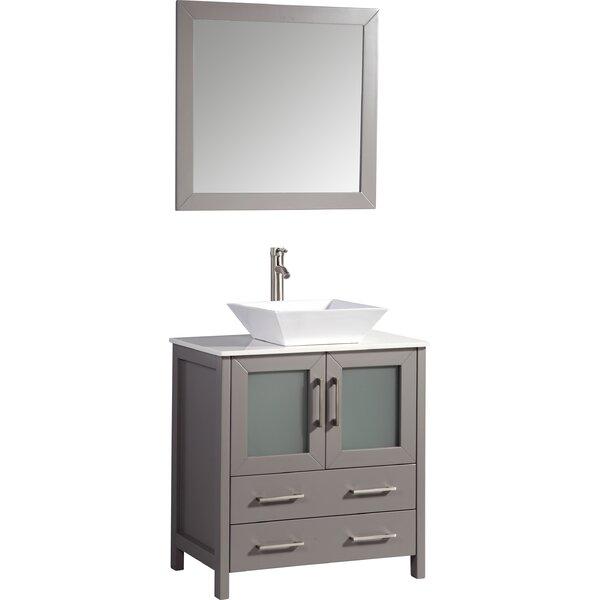 Camillo 30 Single Bathroom Vanity Set with Mirror by Wade Logan
