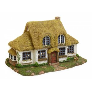 Woodland Knoll Large Fairy English Cottage Statue