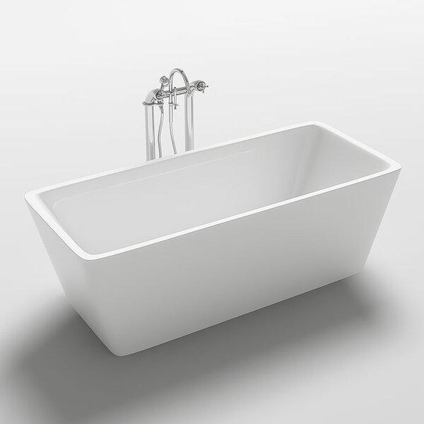 Garda 67 x 31.5 Freestanding Soaking Bathtub by Kokss