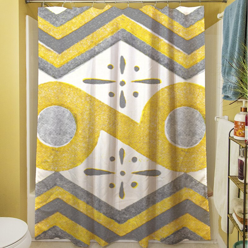 Manual Woodworkers Weavers Citron And Slate Ii Single Shower Curtain Wayfair