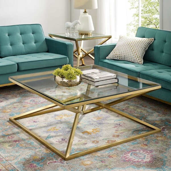 Engles Frame Coffee Table With Storage By Everly Quinn