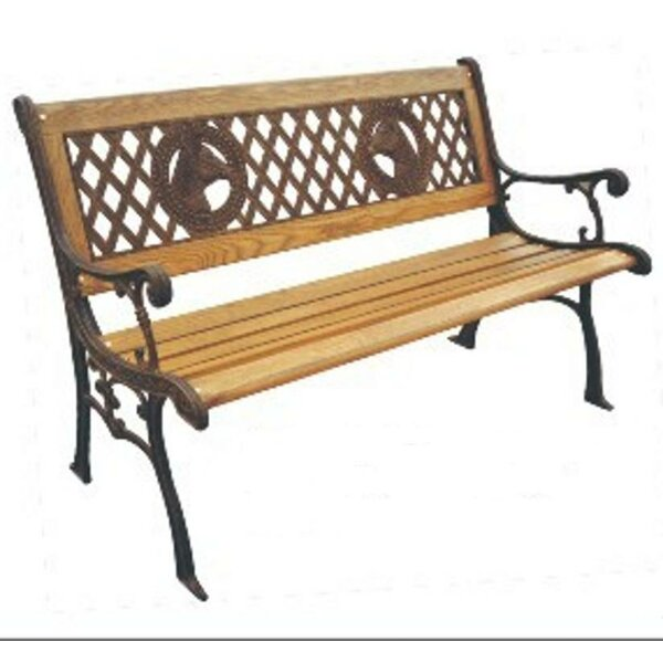 Champions Wood and Cast Iron Park Bench by DC America