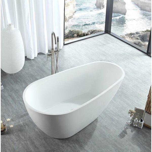 Poseidon Freestanding Soaking Bathtub by Eisen Home