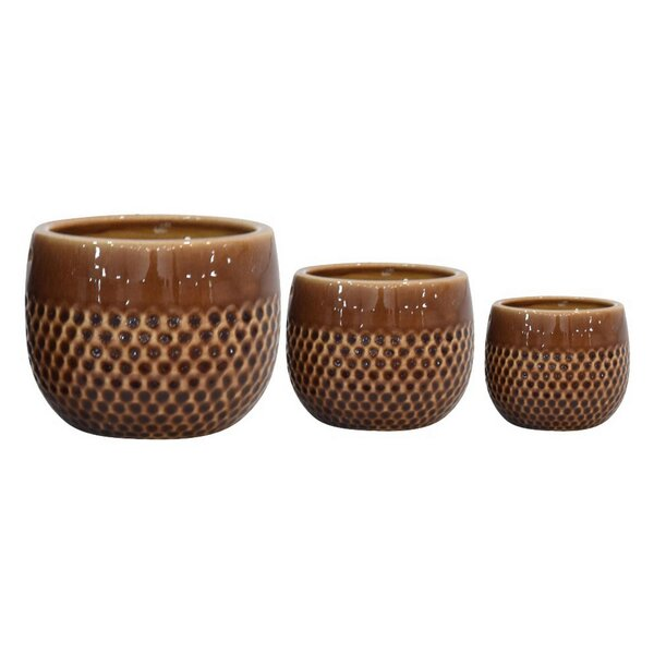 Adelyn 3 Piece Ceramic Pot Planter Set by Bungalow Rose