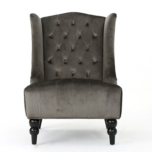 Silver Velvet Chair | Wayfair