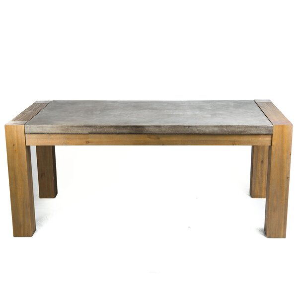 Galghard Stone/Concrete Dining Table by 17 Stories