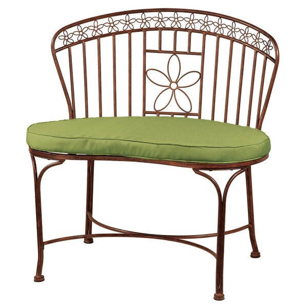 Daisy Ribbon Metal Garden Bench by Deer Park Ironworks