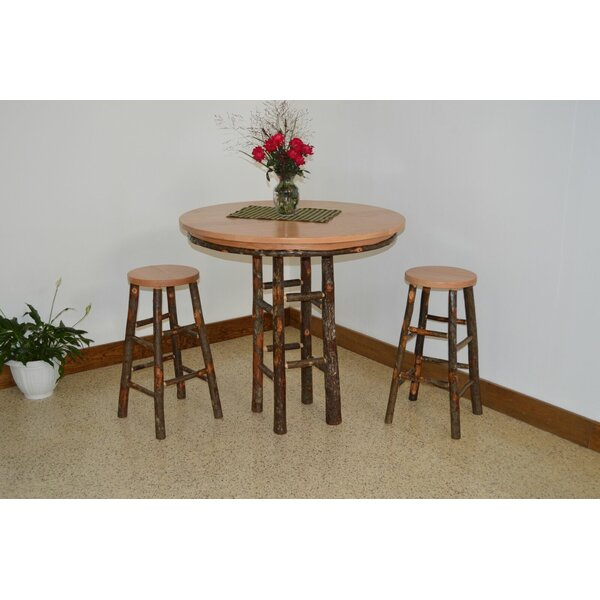 Yorba 3 Piece Solid Wood Dining Set by Loon Peak