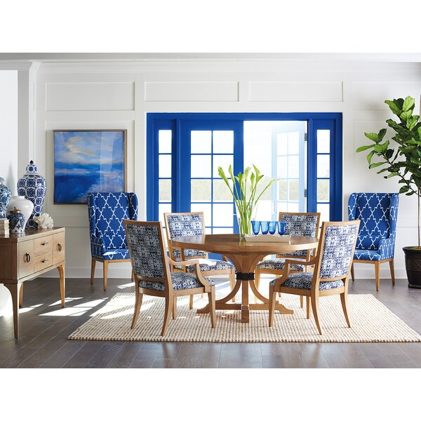 Newport 7 Piece Extendable Solid Wood Dining Set by Barclay Butera