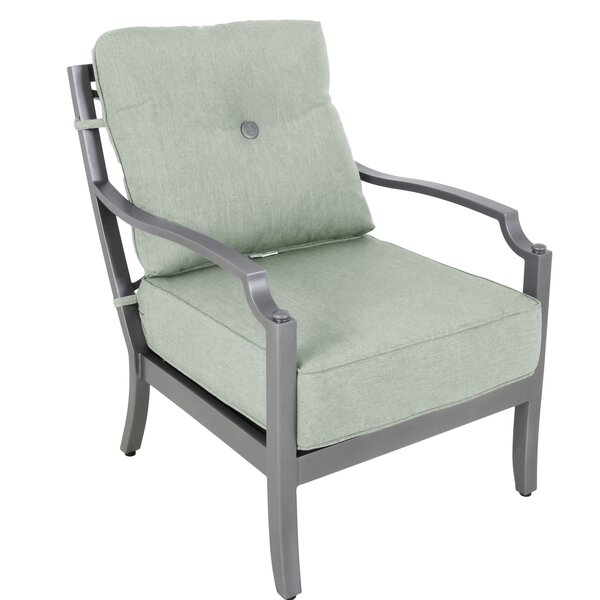 Konevsky Patio Chair with Sunbrella Cushions (Set of 2) by Red Barrel Studio Red Barrel Studio