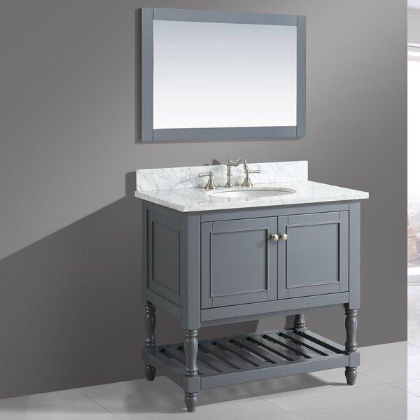 Mccombs 36 Single Bathroom Vanity Set with Mirror by Charlton Home