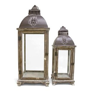 Buy luxury Decorative Metal/Wood Lantern By August Grove