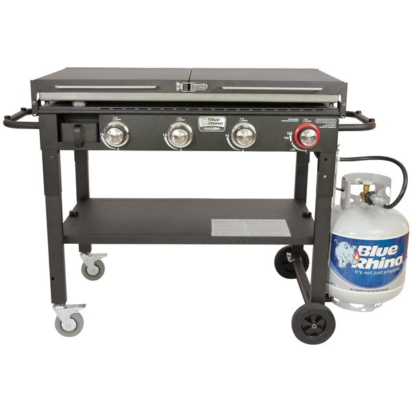 Razor 4-Burner Flat Top Propane Gas Grill by Blue Rhino