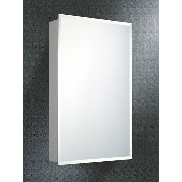 Quintin Surface Mount Framed Medicine Cabinet with 3 Adjustable Shelves
