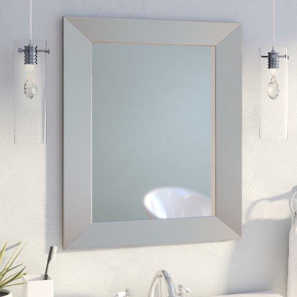 Modern Rectangle Wood Wall Mirror by Mercury Row
