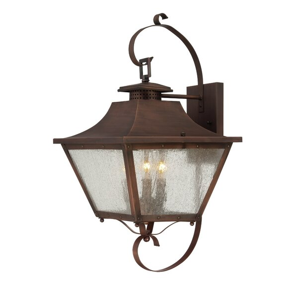 Berryman 3-Light Outdoor Wall Lantern by Fleur De Lis Living