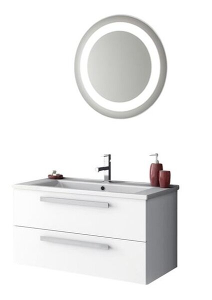 Levasseur 34 Single Bathroom Vanity Set with Mirror