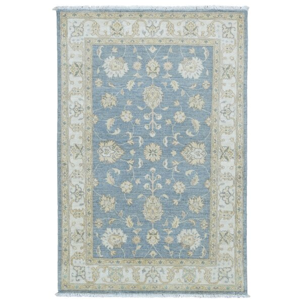 One-of-a-Kind Baron Oriental Hand-Knotted Wool Blue Area Rug by Darby Home Co