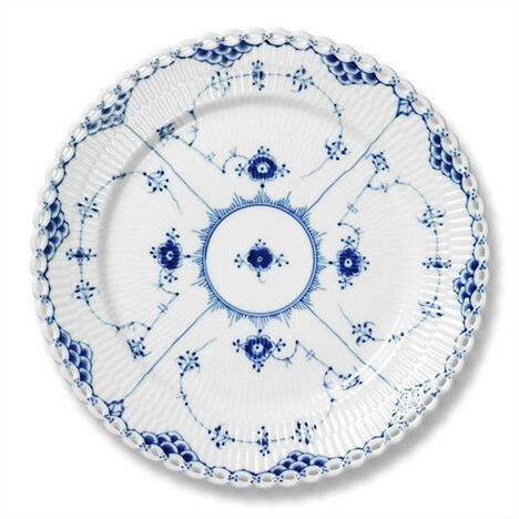 Blue Fluted Full Lace 11 Dinner Plate